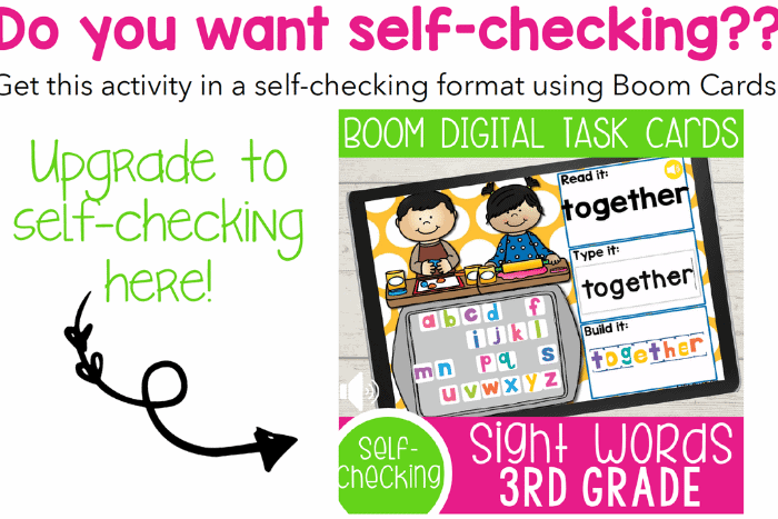 3rd Grade Sight Words Google Slides and Seesaw activities for all Dolch sight words for 3rd Grade. Read the word, type the word and build the sight word with letter tiles.