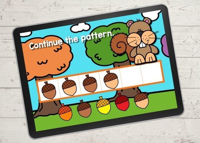 Fall Preschool pattern activity.