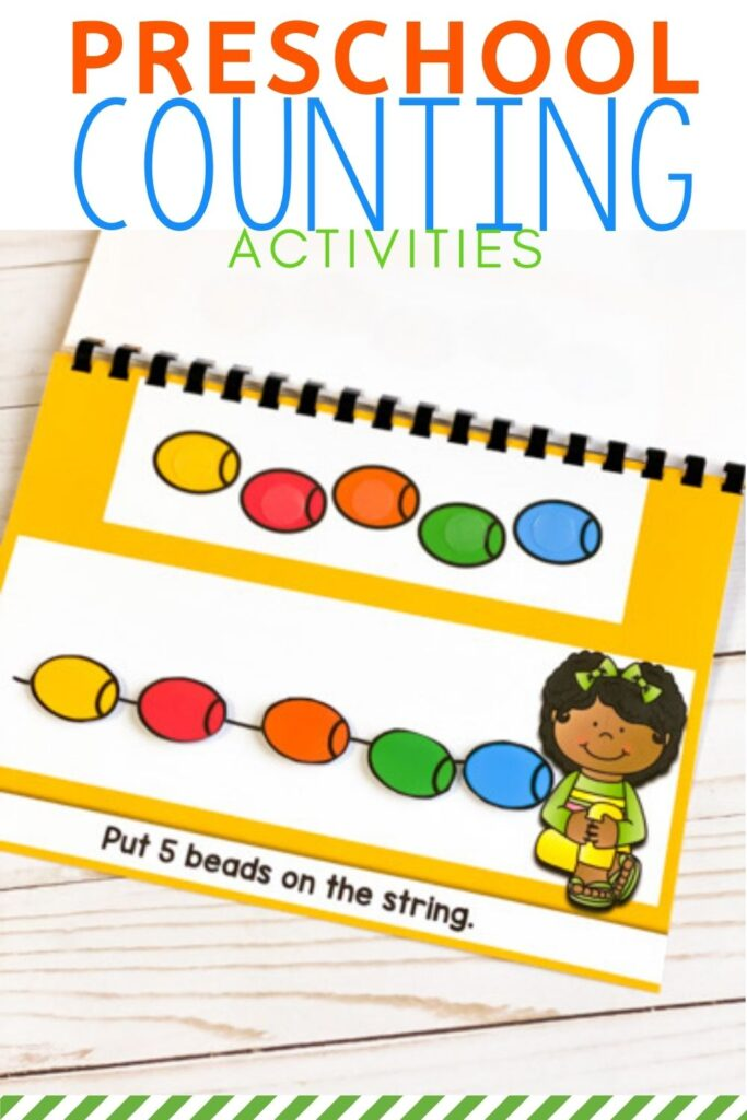 Preschool counting activity printable book.