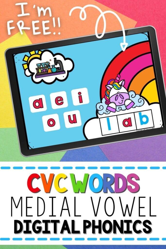 cvc words activities for kindergarten google slides and printable
