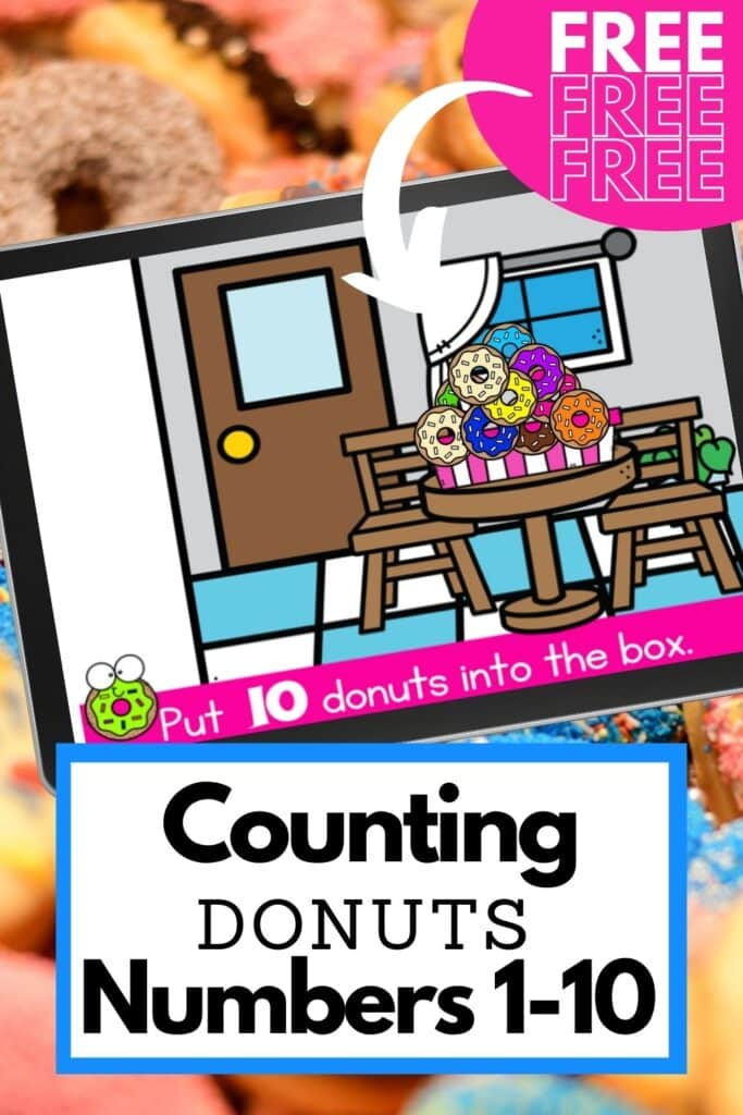 Free Counting Donuts Activity for 1-10