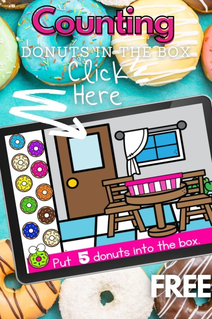 Free Digital Counting Donuts In The Box Activity