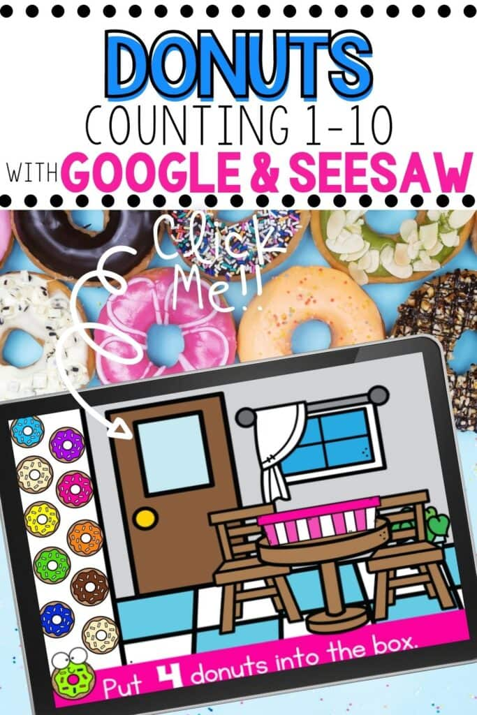 Donuts Counting 1-10 Activity for Google and Seesaw