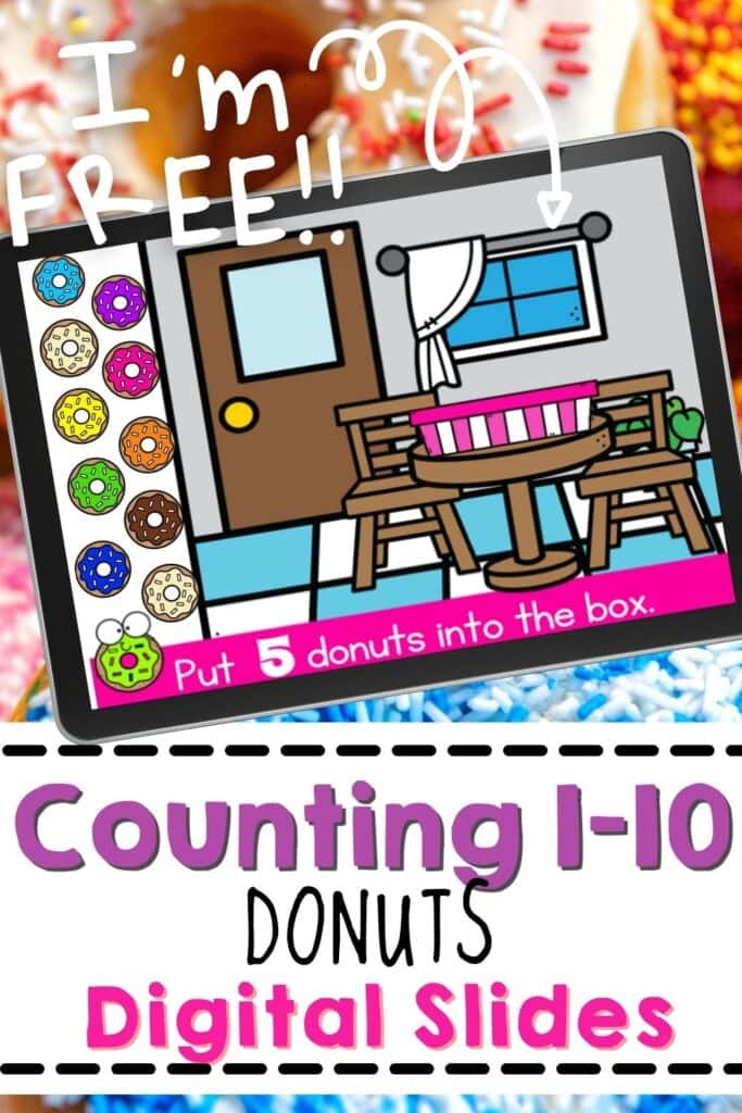 Free Counting Donuts 1-10 Digital Slides