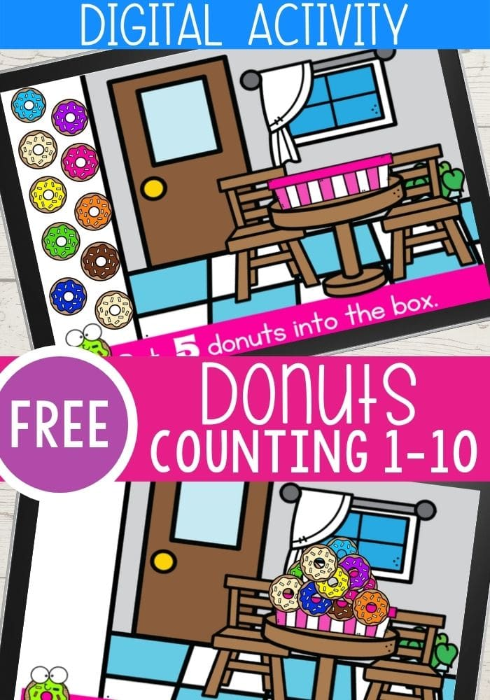 Free Donuts Counting 1-10 Digital Activity
