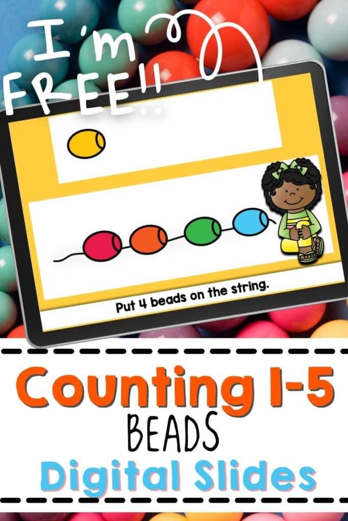 Preschool bead counting activities.