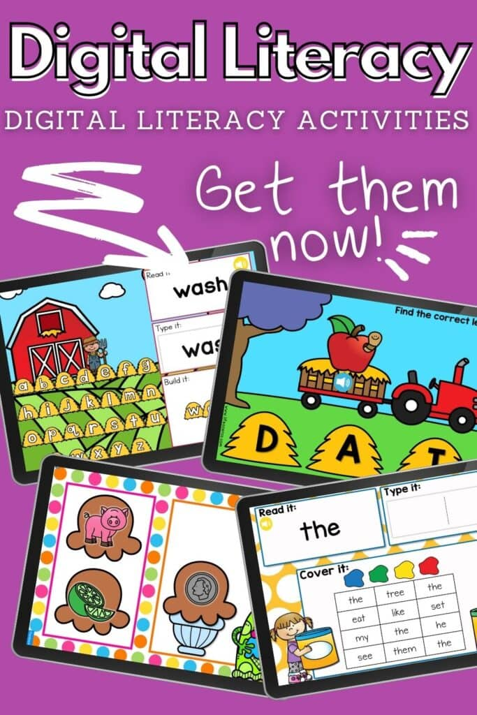 Digital Literacy Activities: Google Slides, Seesaw, Boom Cards and more
