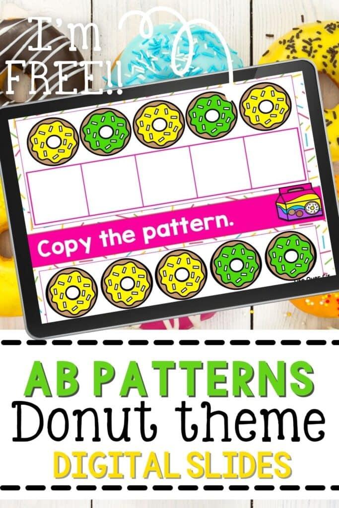 Free Donut Theme AB Patterns Digital Slides