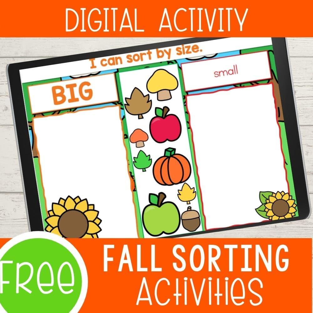 Fall sorting activities digital version!