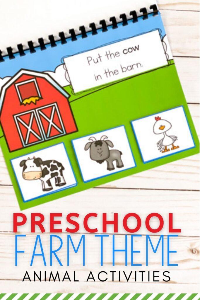 Preschool Farm Theme Animal Activities
