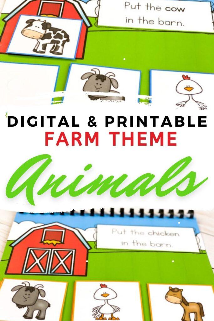 Digital & Printable Farm Theme Animals