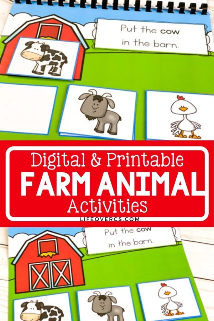 Digital & Printable Farm Animal Activities