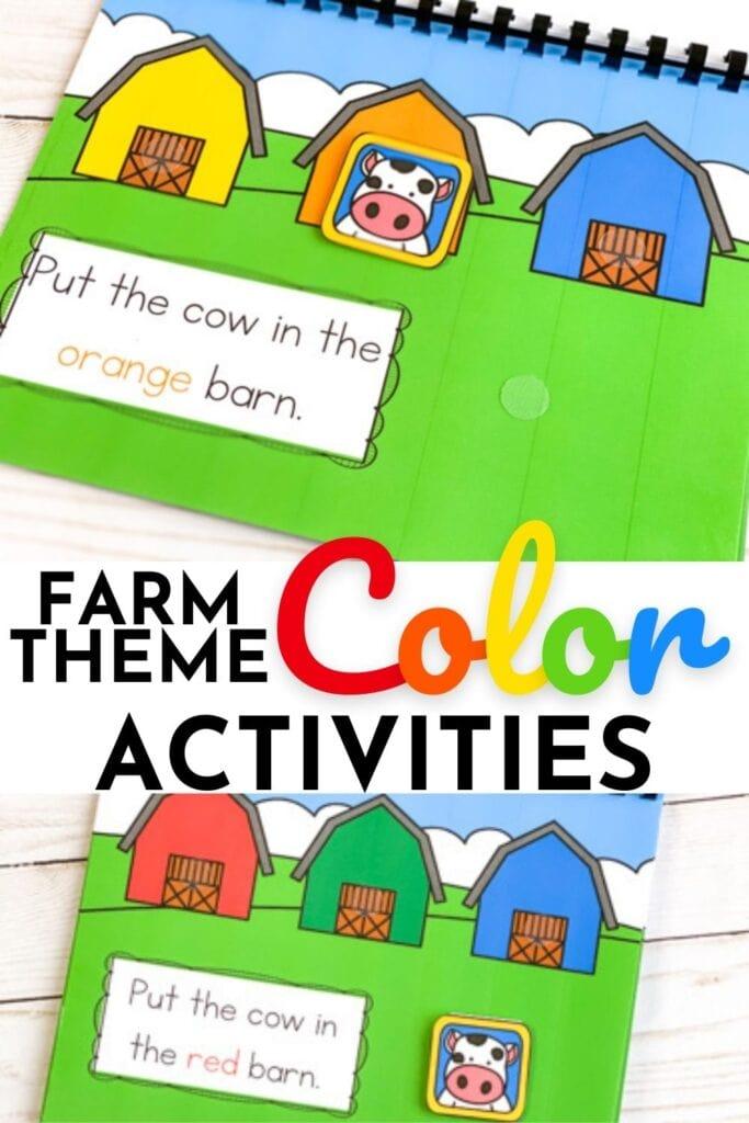 Farm Theme Color Activities