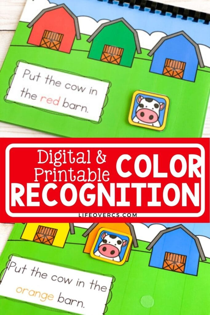 Digital and Printable Farm Theme Color Recognition