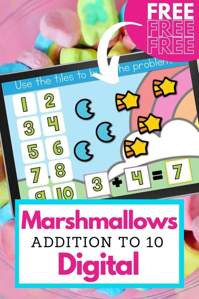 Digital kindergarten addition activity for kindergarten math lesson plans during St. Patricks Day