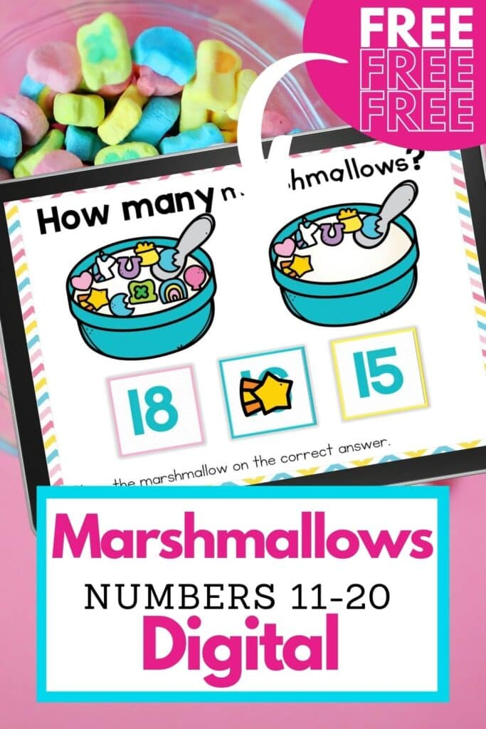 Free Marshmallows 11-20 Digital Counting Activity