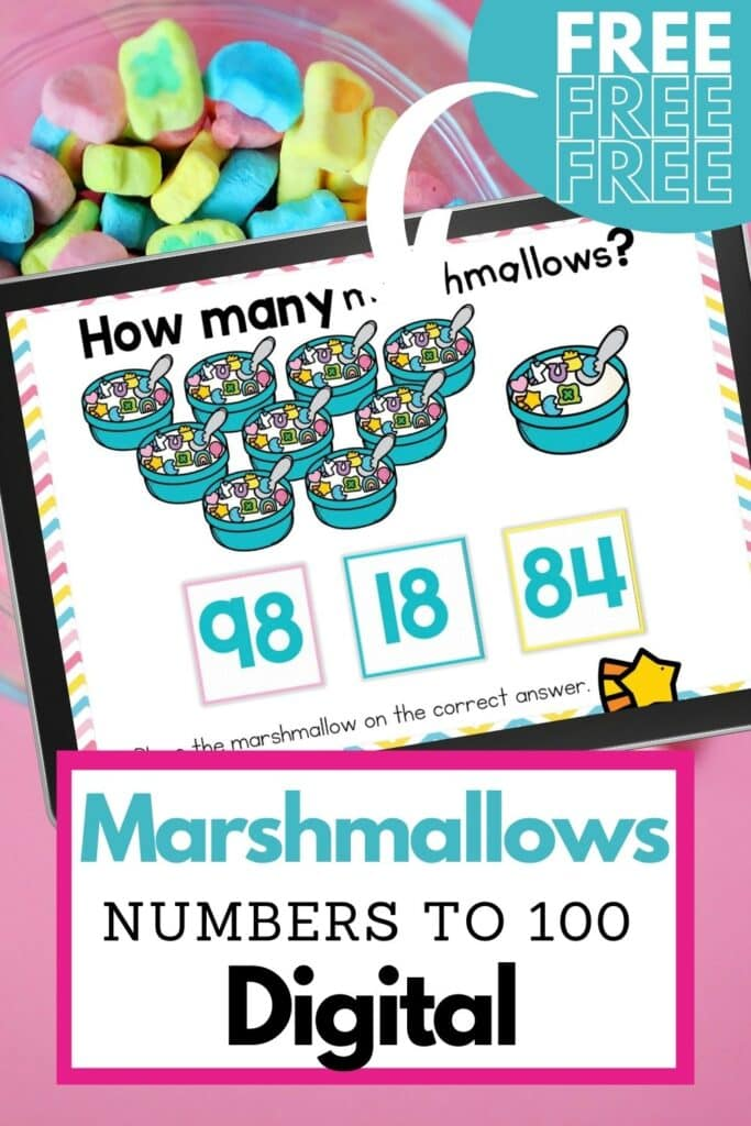 counting activities for kindergarten using marshmallow cereal