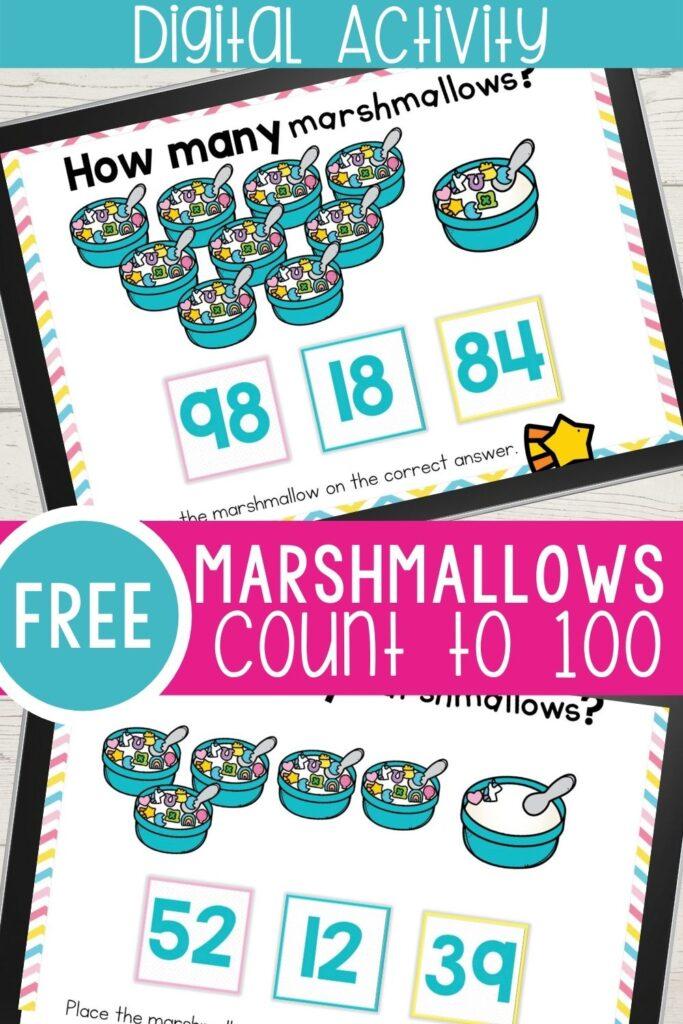 marshmallow counting activities for kindergarten