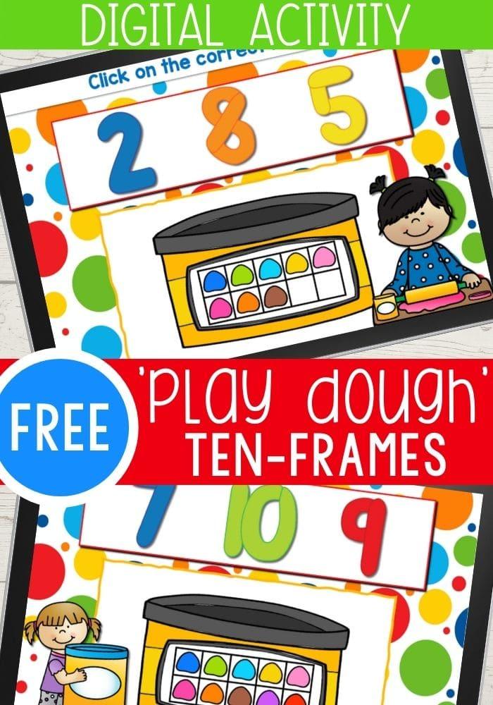 Free digital play dough ten frames.