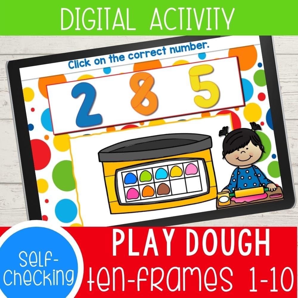 Play dough ten frames 1-10.