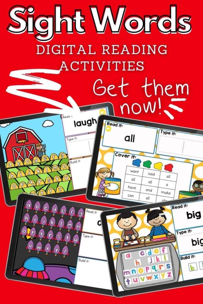 Sight Words Digital Activities