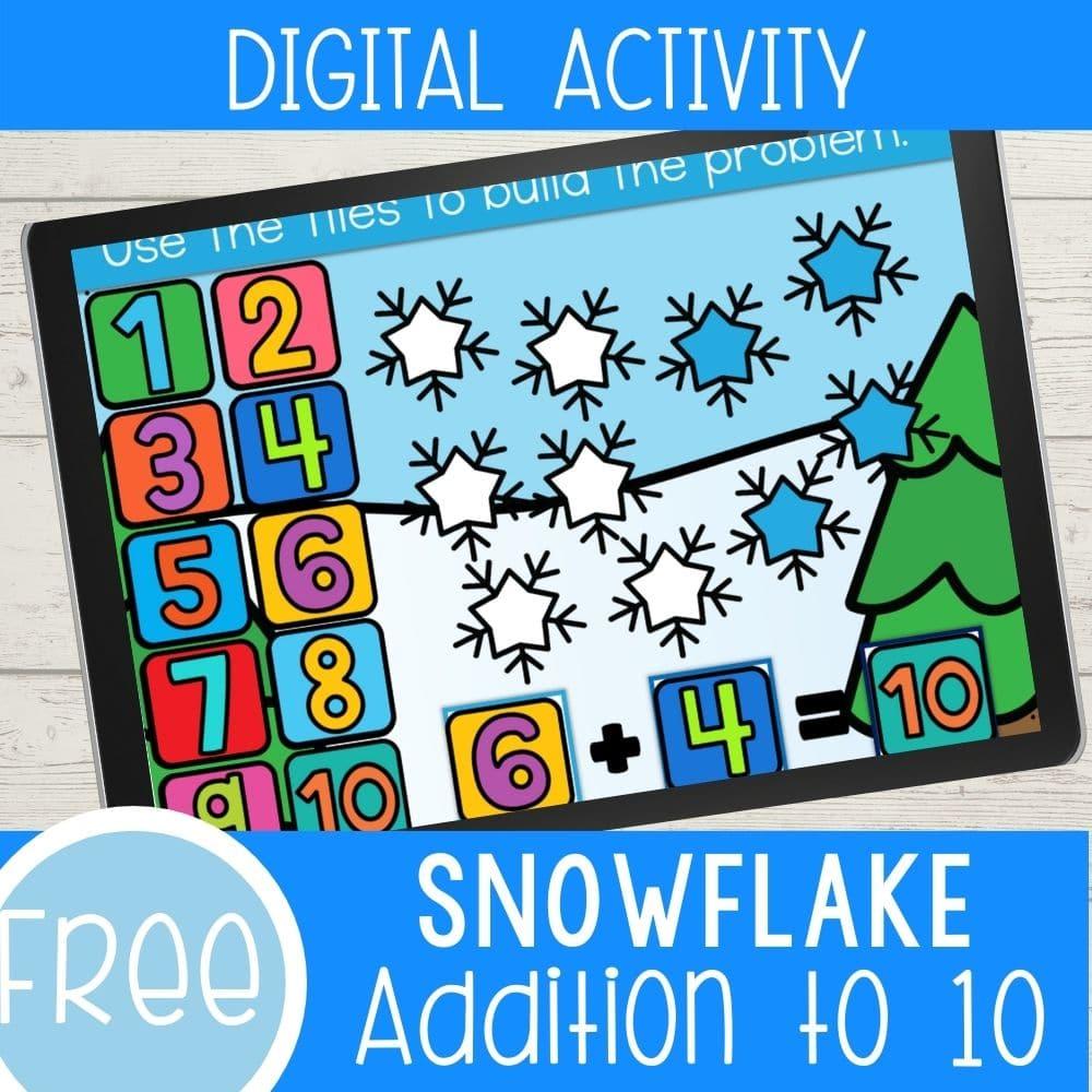 Snowflake addition digital activity.