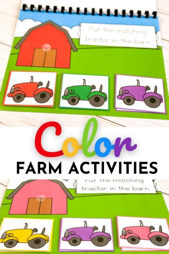 Farm Color Matching Activities