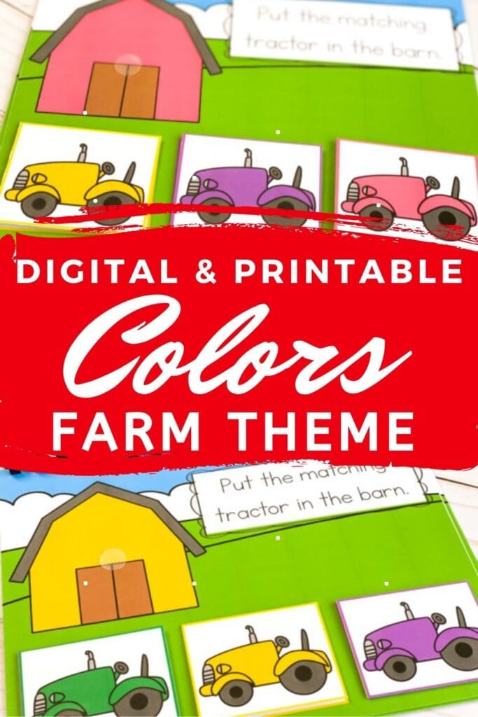 Digital and Printable Farm Theme Matching Colors