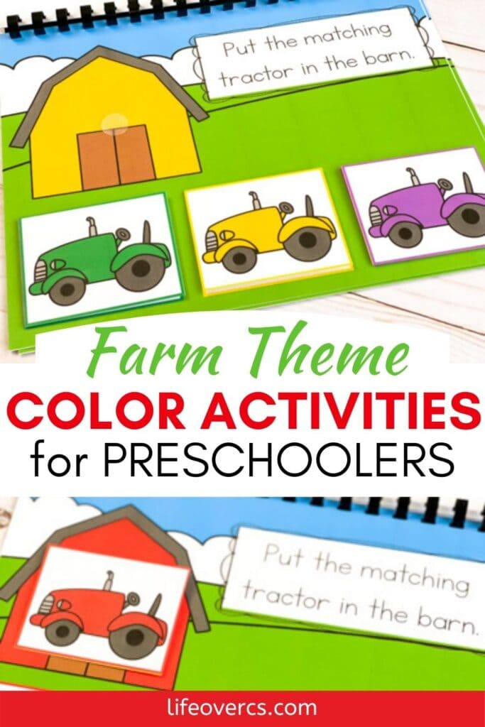 Farm Theme Color Activities For Preschoolers