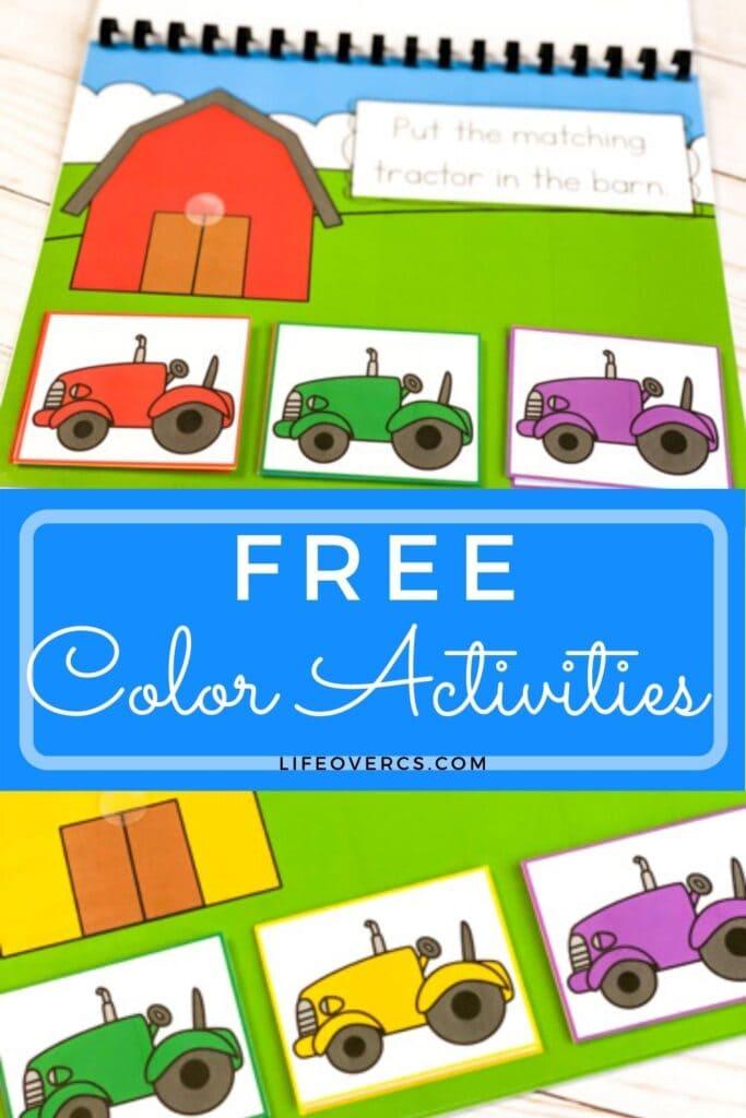 barn and tractor color digital and printable pin5