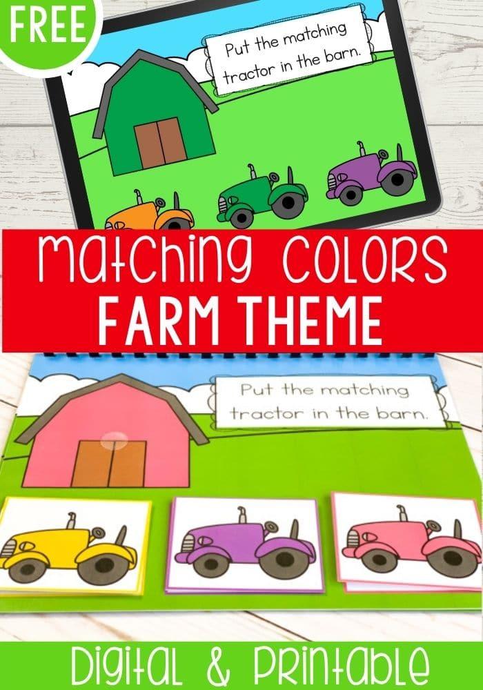 Free Farm Theme Matching Colors