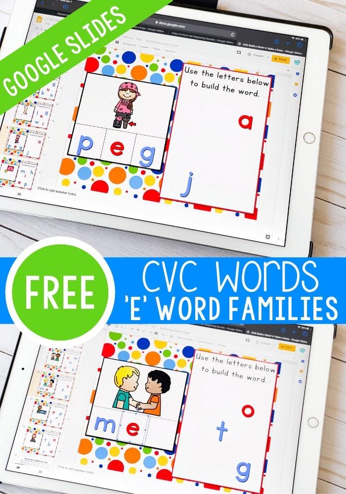 These CVC Word Family