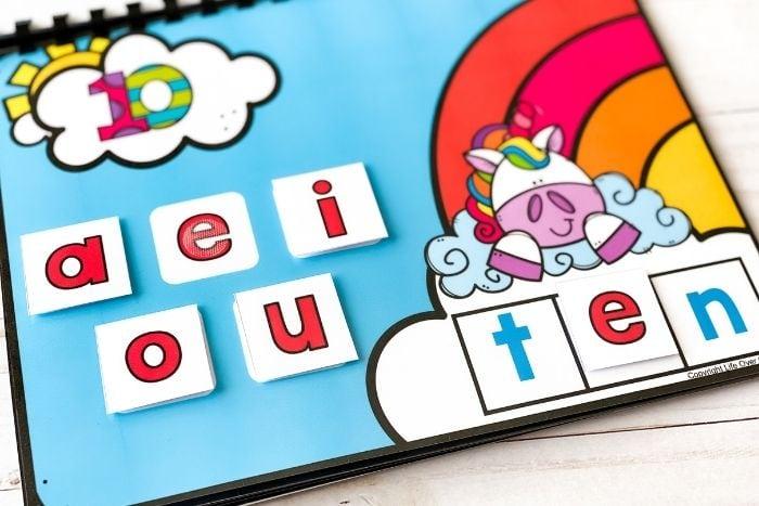 cvc words kindergarten free printable and digital activity build a cvc word