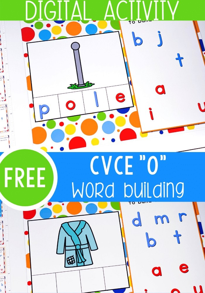 Free CVC Word Activities using Google Slides for kindergarten! A fun way to work on beginning reading and phonics skills with CVC words.