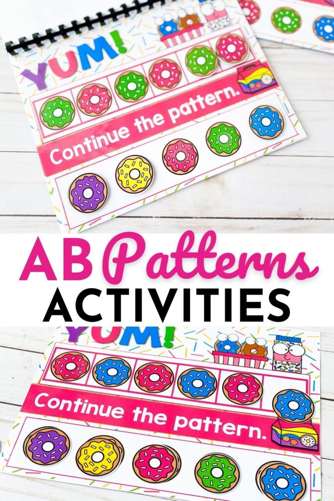 Donut Theme AB Patterns Activities