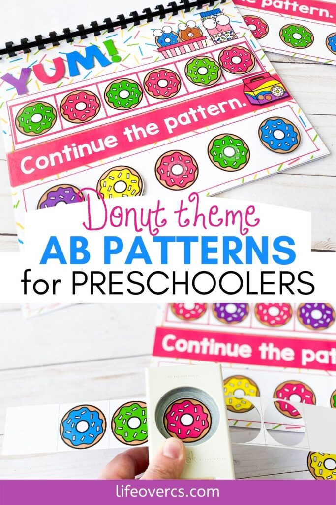 Donut Theme AB Patterns for Preschoolers