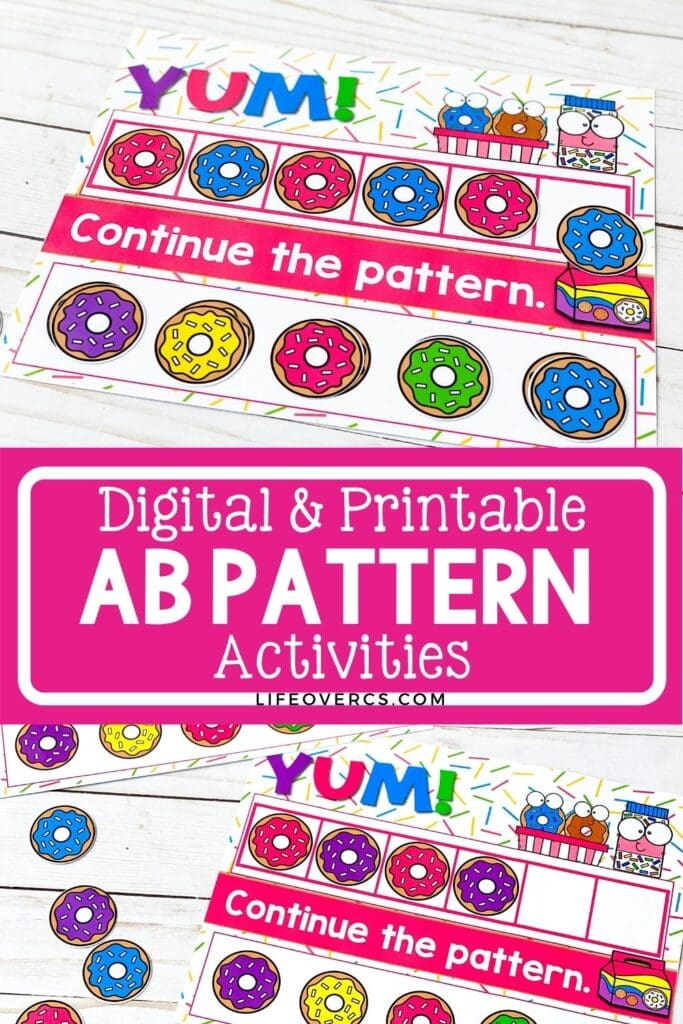 Digital and Printable AB Pattern Activities