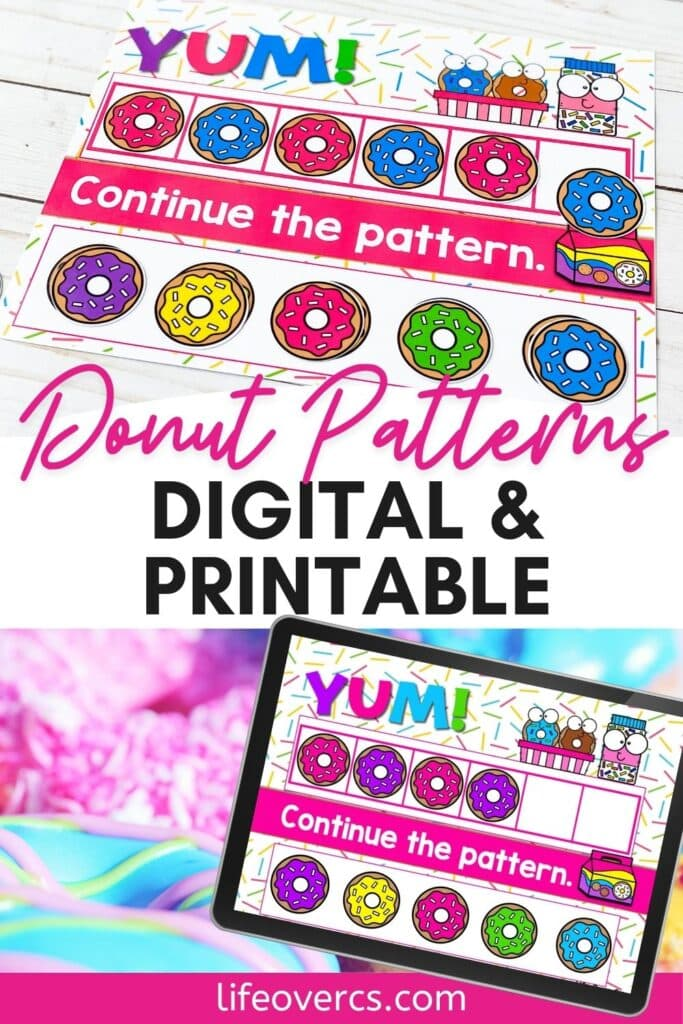 Donut Patterns Digital And Printable Activity