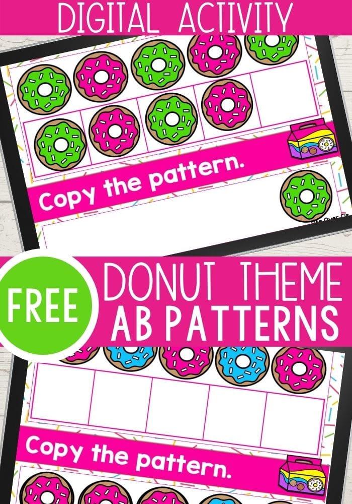 Free Donut Theme AB Patterns Digital Lesson