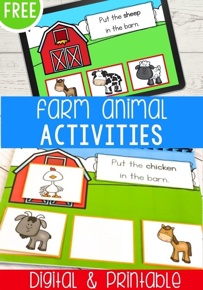 Free Farm Animal Activities