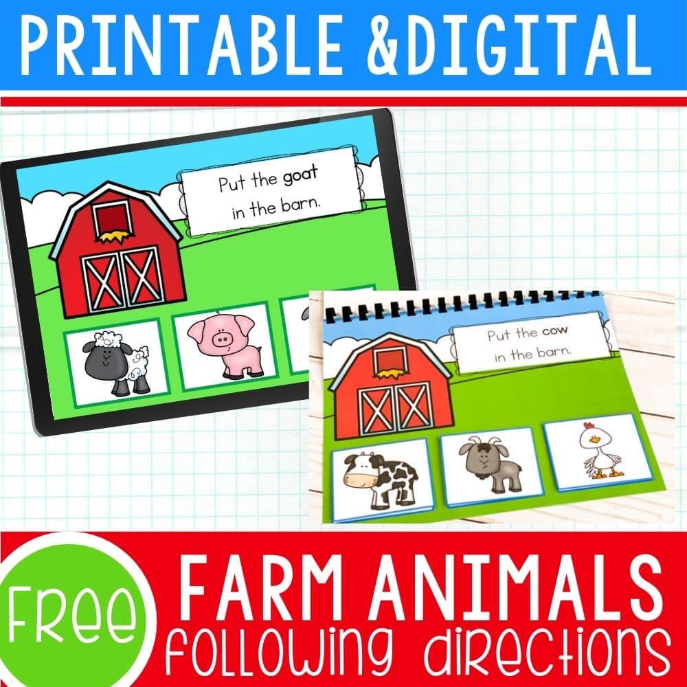 Farm Animal Activities square image.