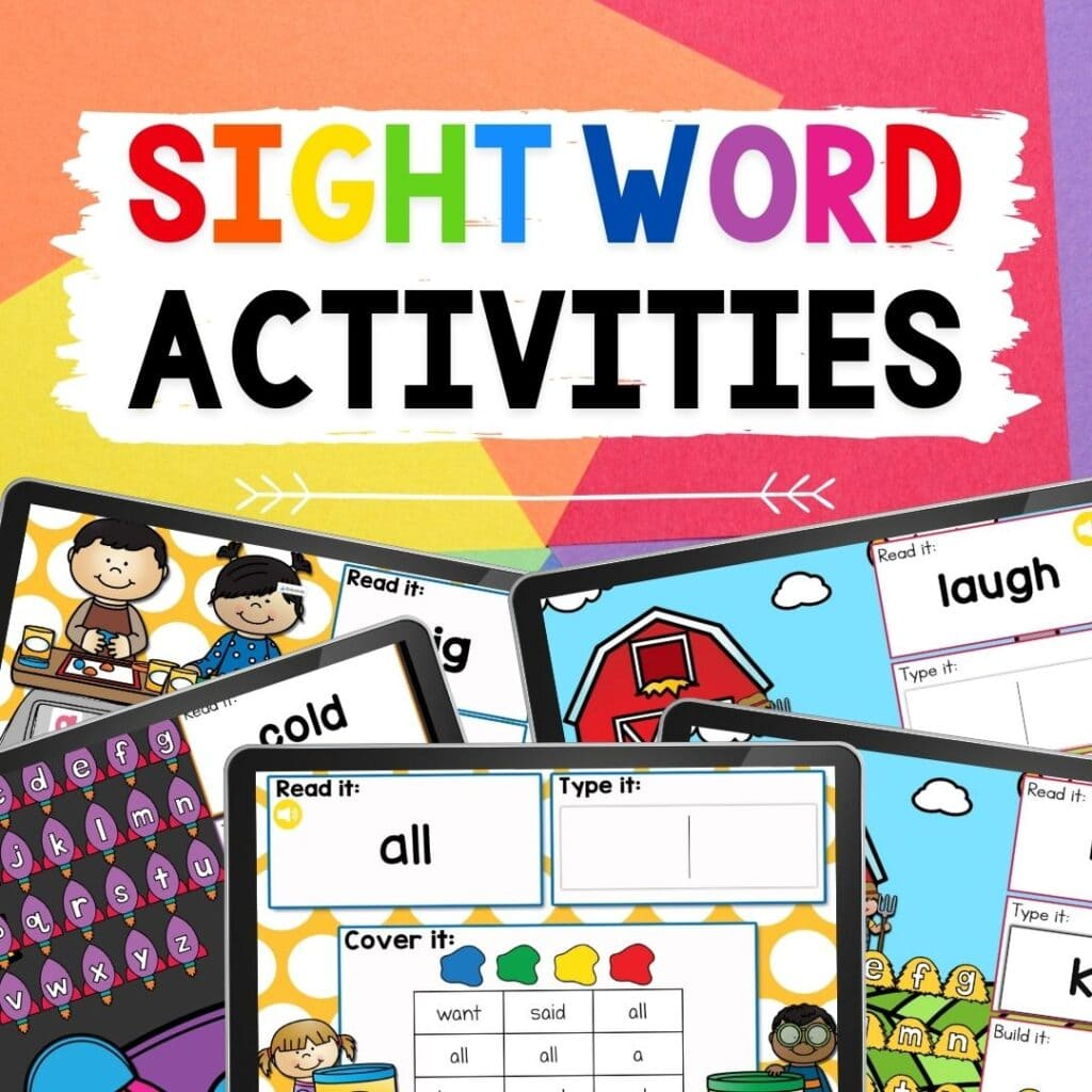 sight word digital activities sq
