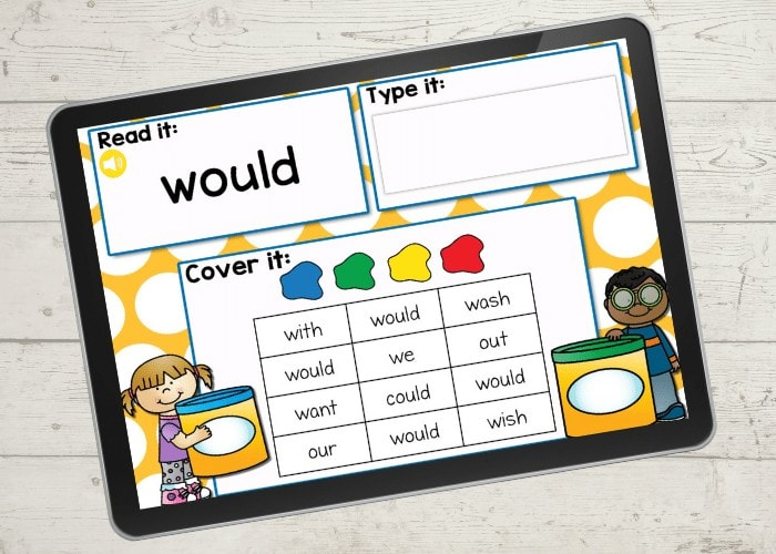 Free sight words I Spy Activity for 2nd grade. Use this fun Google Slides and Seesaw digital activity to practice 2nd grade sight words.