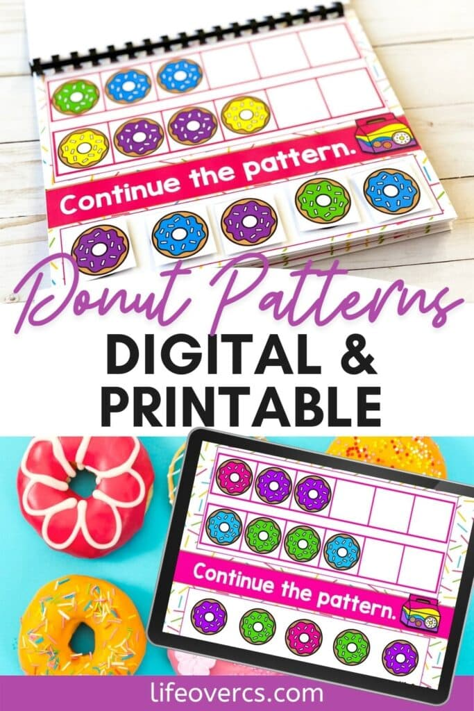 Donut ABB Patterns Printable and Digital Activity