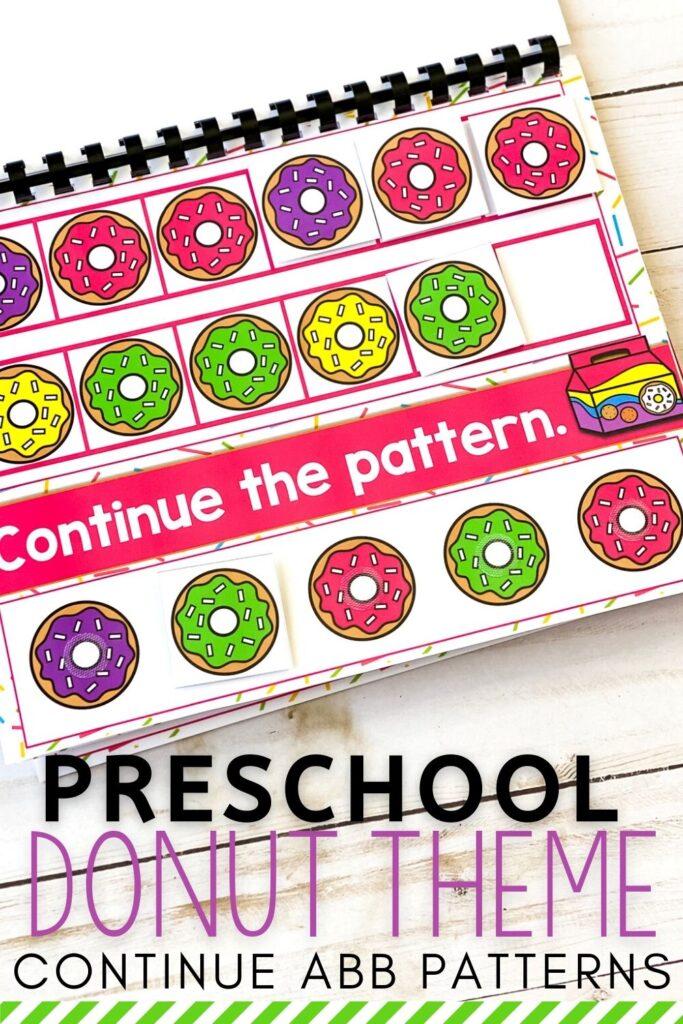 Free Preschool Donut Theme ABB Patterns Activity