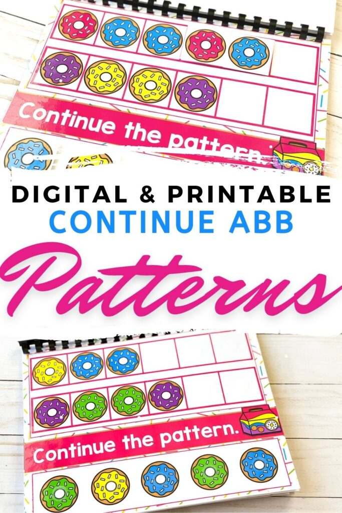 Free Digital and Printable Continue ABB Patterns Activity