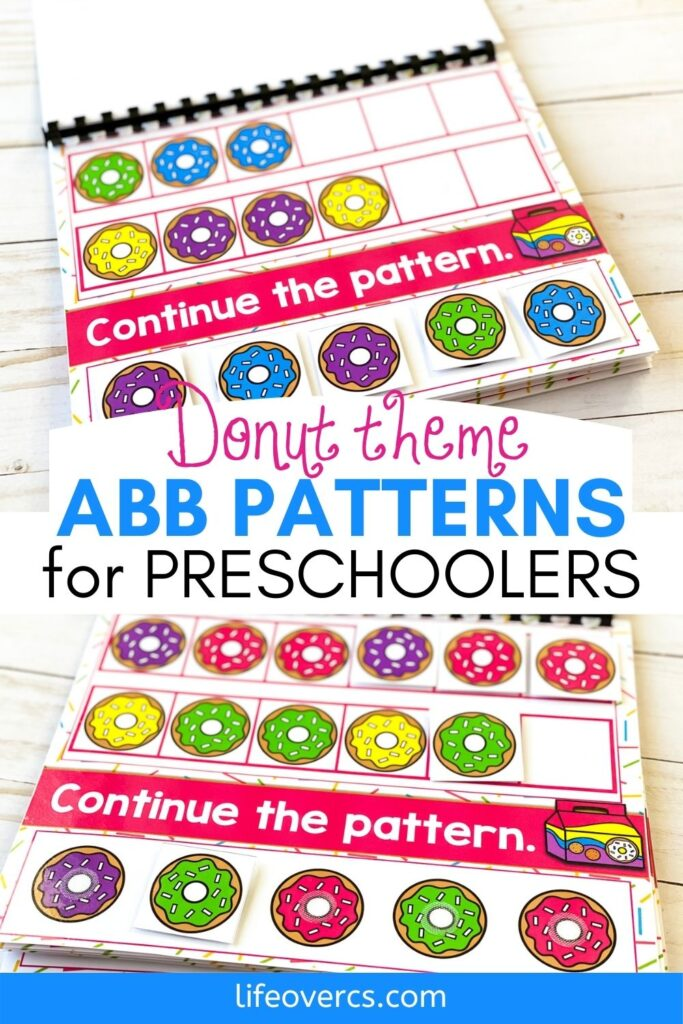 Donut Theme ABB Patterns for Preschoolers