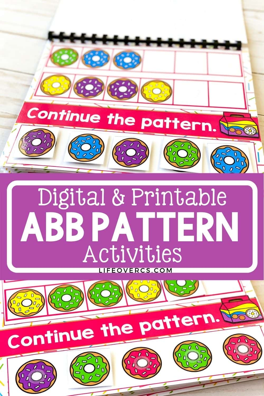 Digital and Printable ABB Pattern Activities