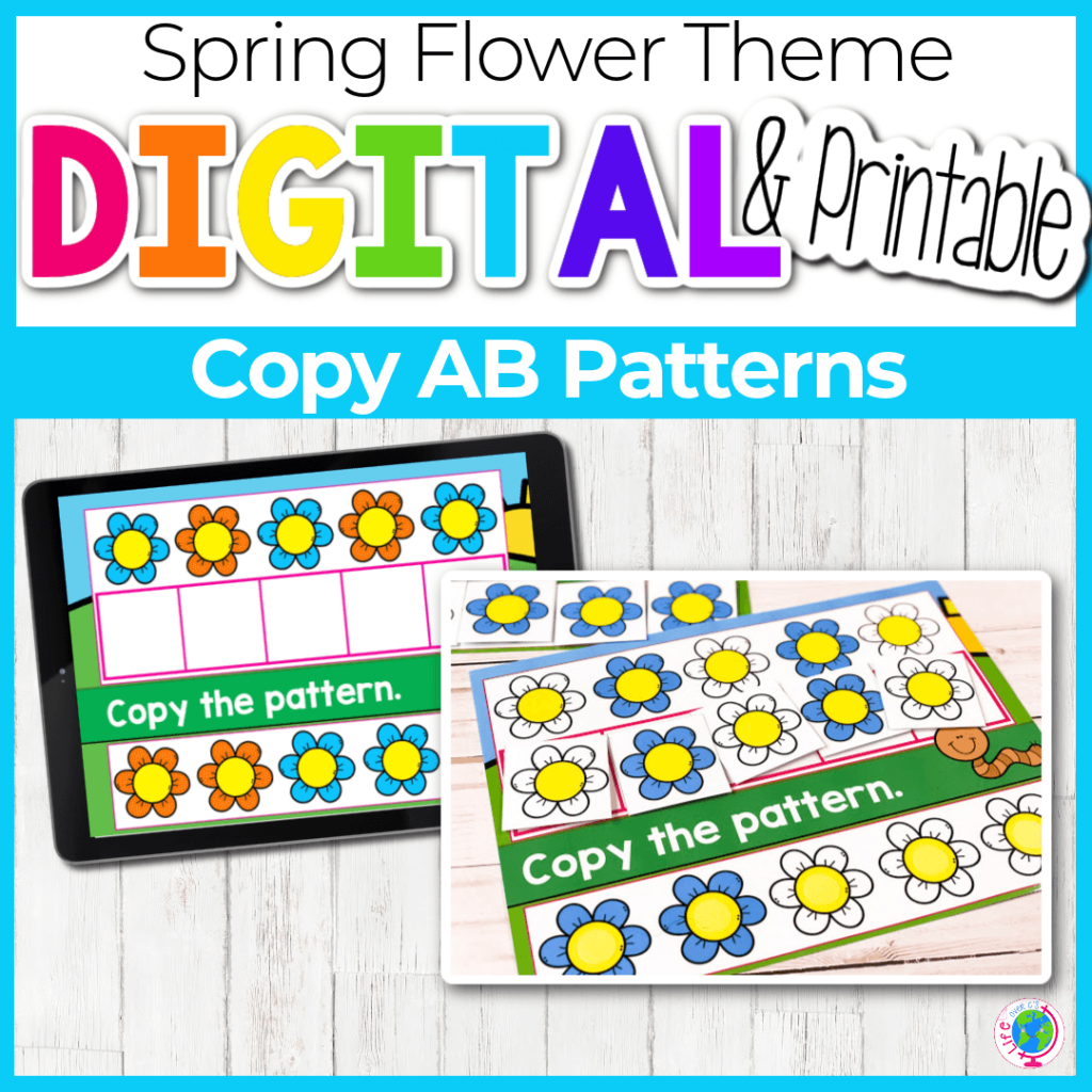 Flower AB Patterns Covers Digital and Printable