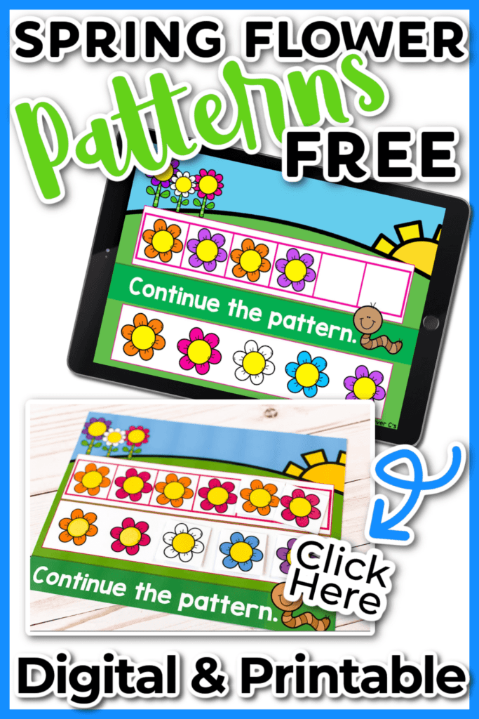 Spring Flower Patterns Digital and Printable Activity